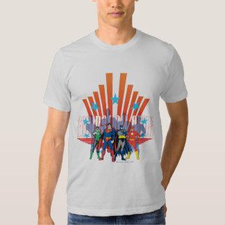 "Liga de justiça ""contra todas as probabilidades "" camisetas"