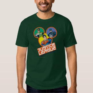 """Liga de justiça """"força nos números """" t-shirts"""
