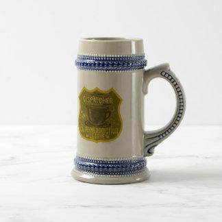 Liga do vício da cafeína do expedidor caneca de cerveja