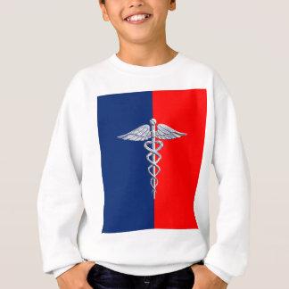 Liga médica do símbolo do Caduceus de prata T-shirt