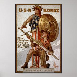 Ligações de guerra poster