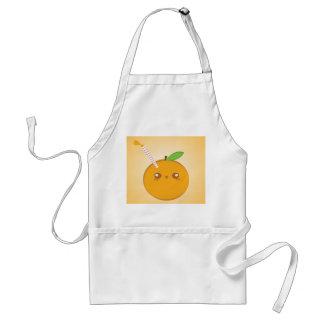 Lil' esguincha o avental bonito da laranja do bebê