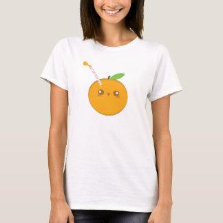 Lil' esguincha o t-shirt bonito da laranja do bebê