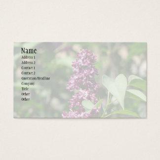 Lilac doce cartão de visitas