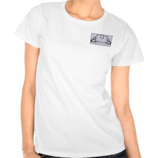 Lilac & monograma preto filigranas t-shirts