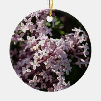 Lilac perfumado ornamento de cerâmica redondo