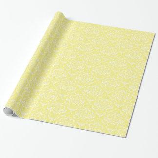 Limão - cor damasco branca amarela papel de presente