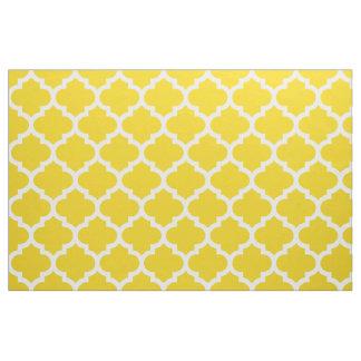 Limão - tecido amarelo da treliça de Quatrefoil do