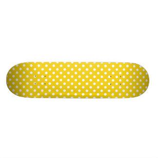 Limão - teste padrão de bolinhas amarelo shape de skate 20,6cm