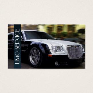 Limo, serviço de limusinas, negócio do taxista cartão de visitas