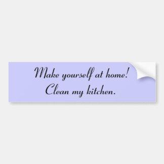 """""""Limpe autocolante no vidro traseiro da minha cozi Adesivo Para Carro"""