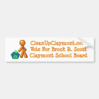 Limpe Claymont - autocolante no vidro traseiro Adesivo Para Carro