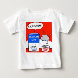 Limpe o bebê cristão evangélico engraçado dos t-shirts