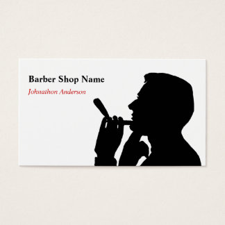 Limpe o cabeleireiro da barbearia do Shave para Cartão De Visitas