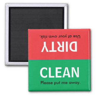 Limpe o ímã sujo da máquina de lavar louça ímã quadrado