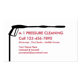 Limpeza da pressão cartão de visita