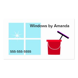 Limpeza de janela cartão de visita