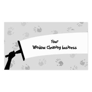 Limpeza de janela cartões de visita