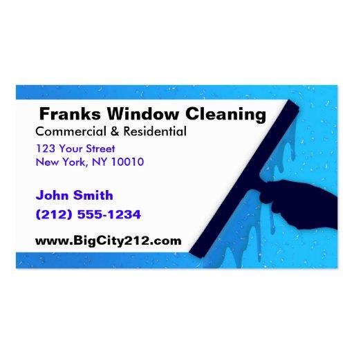 Limpeza de janela CUSTOMIZÁVEL BC Cartões De Visita
