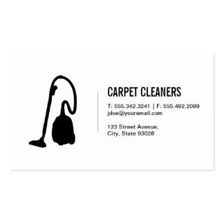 Limpeza do tapete cartão de visita