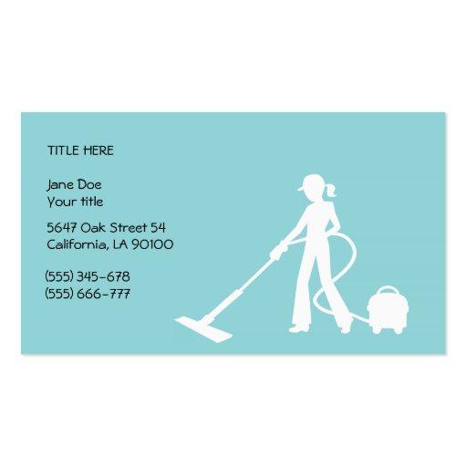 Limpeza e cartão de visita das tarefas domésticas