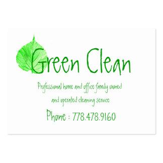 Limpeza Empresa, verde, amigável Eco-, natureza Cartão De Visita Grande