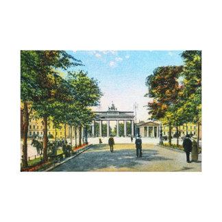 Linden do antro de Berlim Unter do vintage, porta Impressão Em Canvas