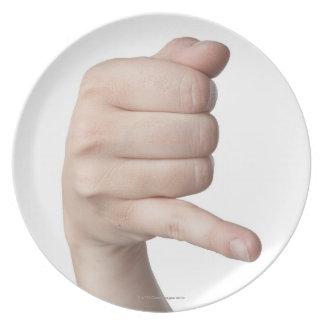 Linguagem gestual americano 17 louças de jantar