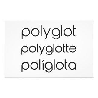 Línguas do múltiplo de Polyglotte Polyglota da Papelaria