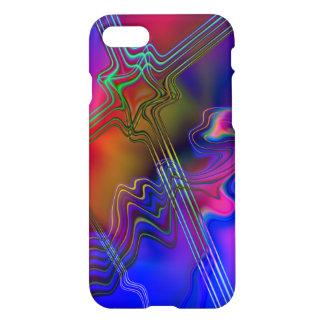 Linha colorida abstrata teste padrão capa iPhone 8/7