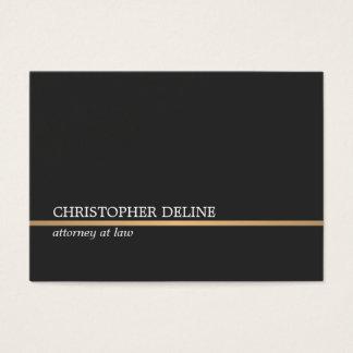Linha de cobre advogado do falso cinzento escuro cartão de visitas