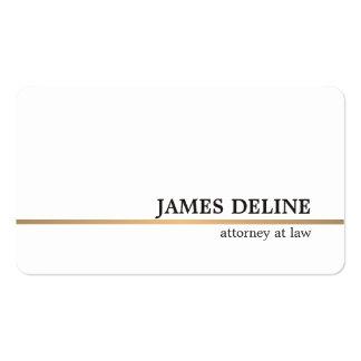 Linha de cobre branca minimalista advogado cartão de visita
