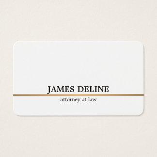 Linha de cobre branca minimalista advogado cartão de visitas