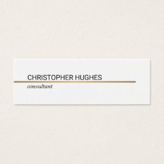 Linha de cobre elegante minimalista advogado cartão de visitas mini