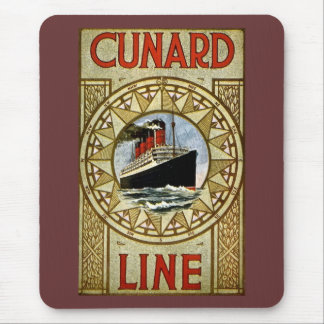 Linha de Cunard do vintage do RMS Berengaria Mouse Pad