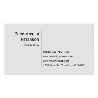 Linha elegante minimalista advogado no escritório cartão de visita