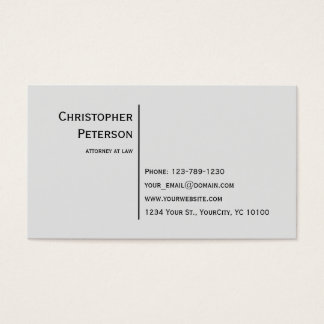 Linha elegante minimalista advogado no escritório cartão de visitas