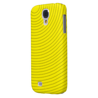 linha espiral amarela galáxia S4 de Samsung Capas Personalizadas Samsung Galaxy S4