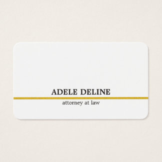 Linha minimalista advogado do ouro branco cartão de visitas