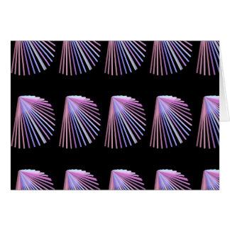 Linha roxa design do Seashell da praia da arte Cartão