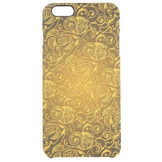 linhas arte do redemoinho do ouro capa para iPhone 6 plus clear