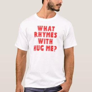 Linhas borradas que rimas com abraço mim t-shirt