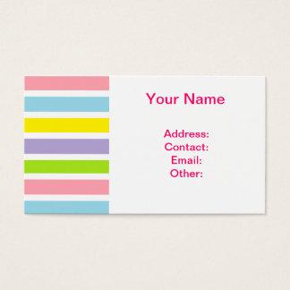 Linhas coloridas cartão de visita