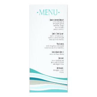 Linhas Curvy aqua do menu do comensal Convite Personalizado