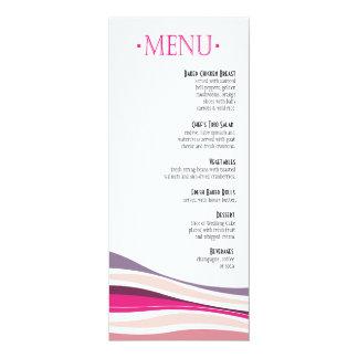 Linhas Curvy fuschia do menu do comensal Convites Personalizados