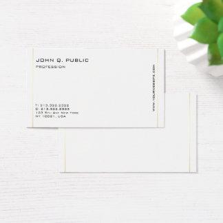 Linhas de cor profissionais modernas do ouro de cartão de visitas