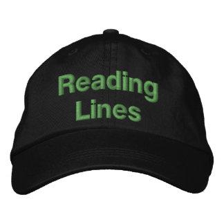 Linhas de estrada de ferro da leitura boné bordado
