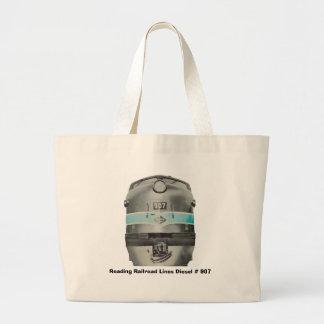 Linhas de estrada de ferro diesel da leitura # 907 sacola tote jumbo
