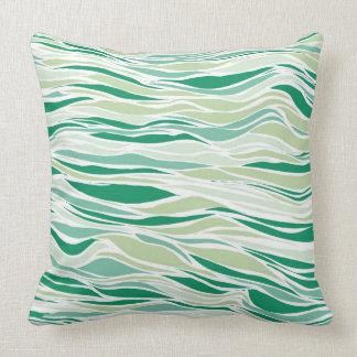 Linhas de fluxo, verdes travesseiro de decoração