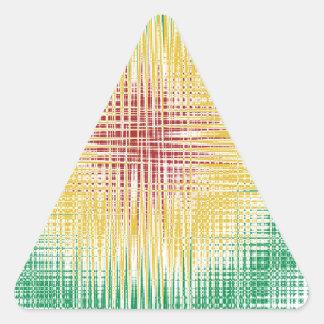 Linhas do Bullseye de Rasta Adesivo Triângulo